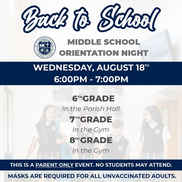 Back to School Night (Middle School)